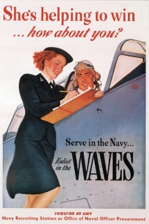 WAVES recruiting poster,